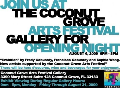 CoconutGroveArtsFestivalGalleryOpen