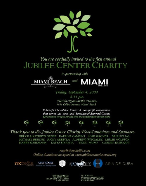 JUBILEE CENTER CHARITY
