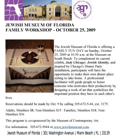 FAMILY WORKSHOP 10_25 AT JEWISH MUSEUM OF FLORIDA