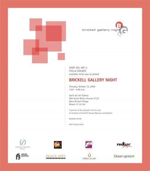 Brickell Gallery Night Invitation
