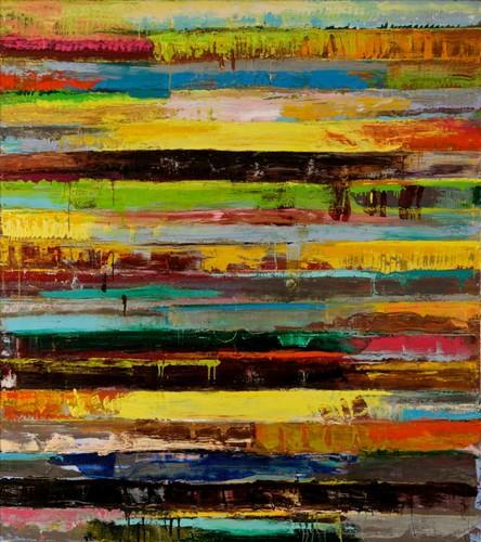 Givernicity,Monroe Hodder, oil on canvas, 72