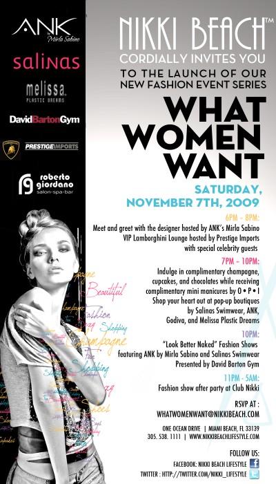 What Women Want Nov. 7