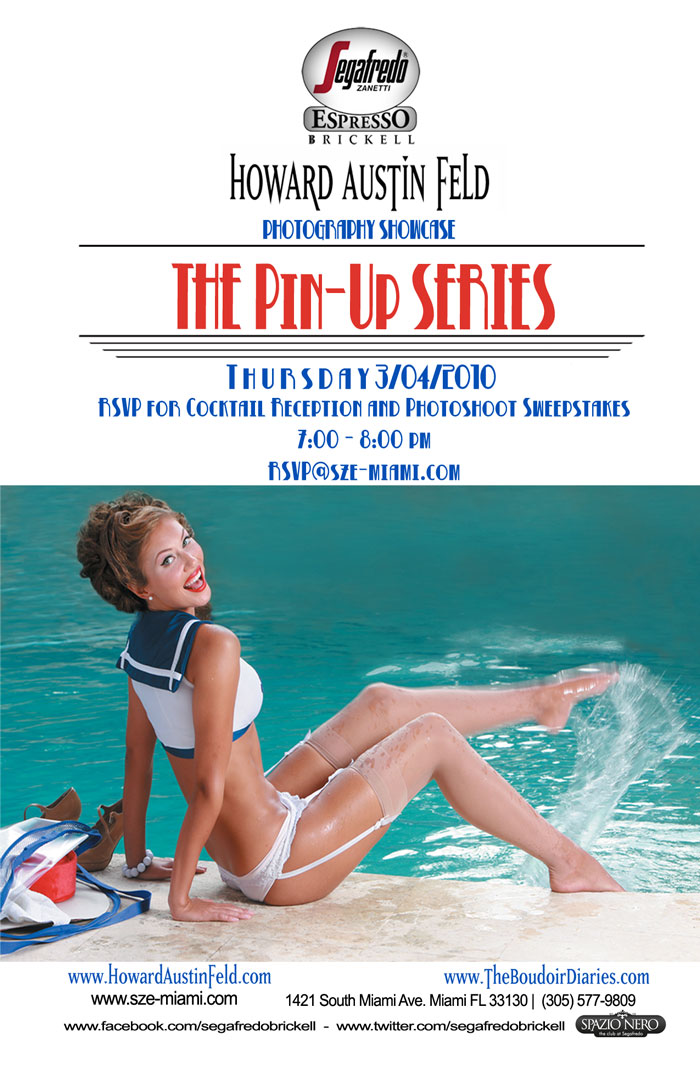 """present """"The Pin-Up Series"""" a photography showcase by the legendary"""