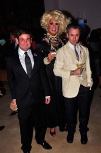 Miami Beach City Commissioner Michael Gongora, Elaine Lancaster and honoree Alan Cumming