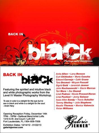 Back In Black evite