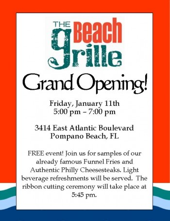 Restaurant grand opening for pinterest