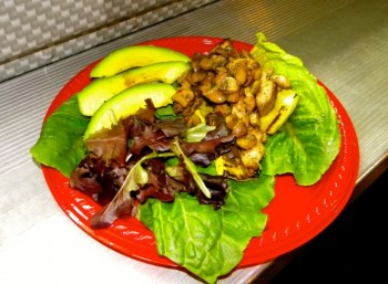 Health Nut On Wheels Paelothic Chicken, Veggies and Avocado.