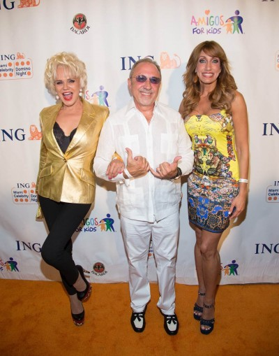 Charytin, Emilio Estefan and Lili Estefan walk the Orange Carpet.