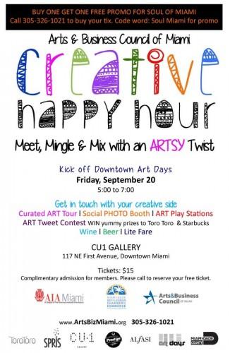 dwntwn art days creative happy hour soul of miami