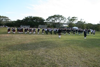 Scottish Festival 02 Mar 2013 699 marching band, wide shot