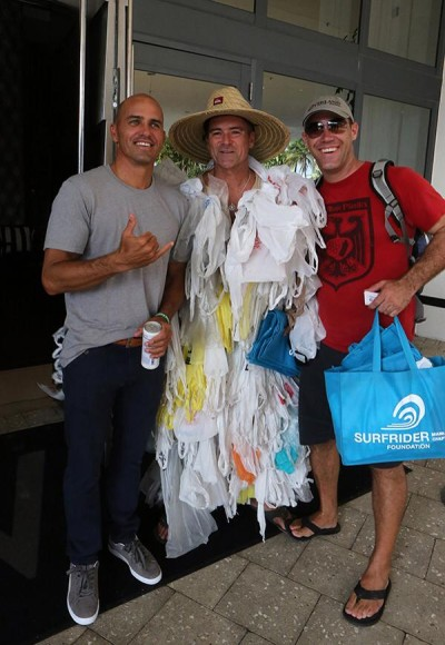 The Miami Chapter of the Surfrider Foundation shared a moment between shows with Kelly Slater