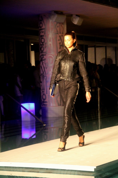Leather look from Peroni Presents the 3rd Annual Emerging Designer Series
