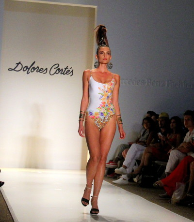 Dolores Cortés Runway from Mercedes-Benz Fashion Week 2014 at The Raleigh.