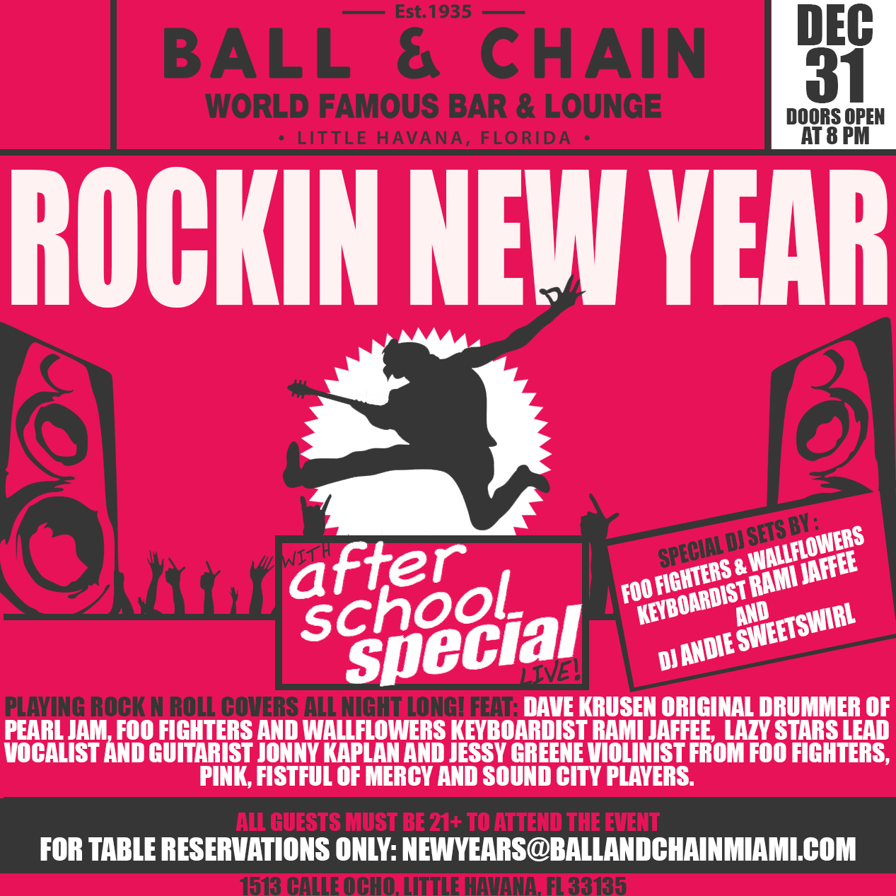 Pay For Rock After School: Ball & Chain Presents Rock Legends Tribute Show, After