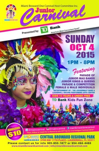 Miami Broward TD Bank Jr Carnival Flyer