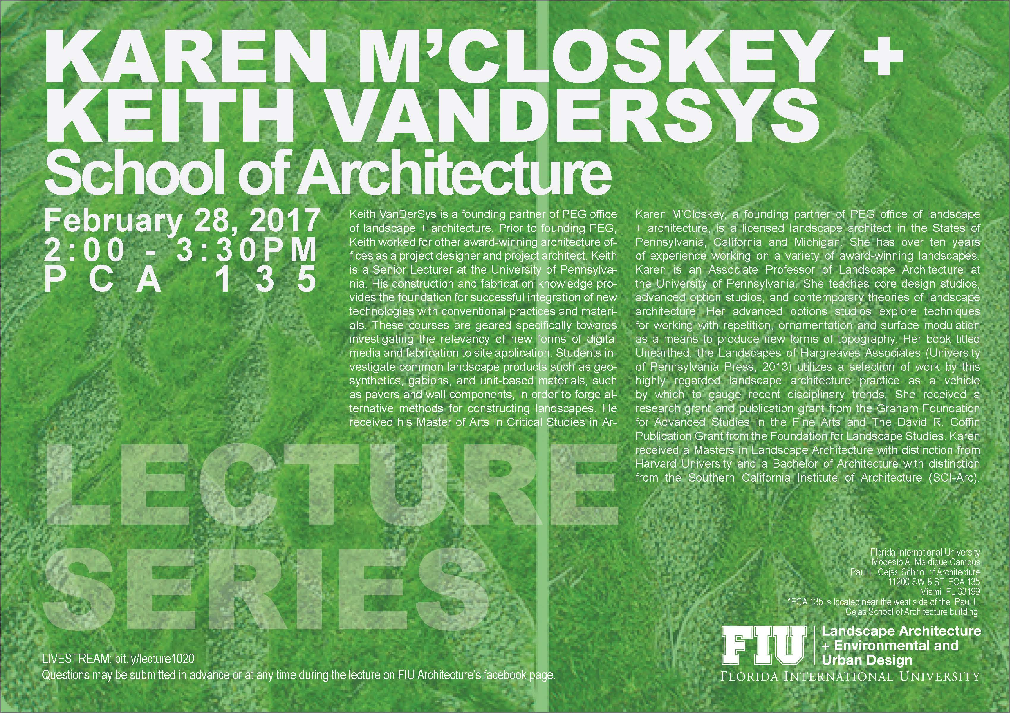 karen m 39 closkey keith vandersys lecture 2 28 17 the