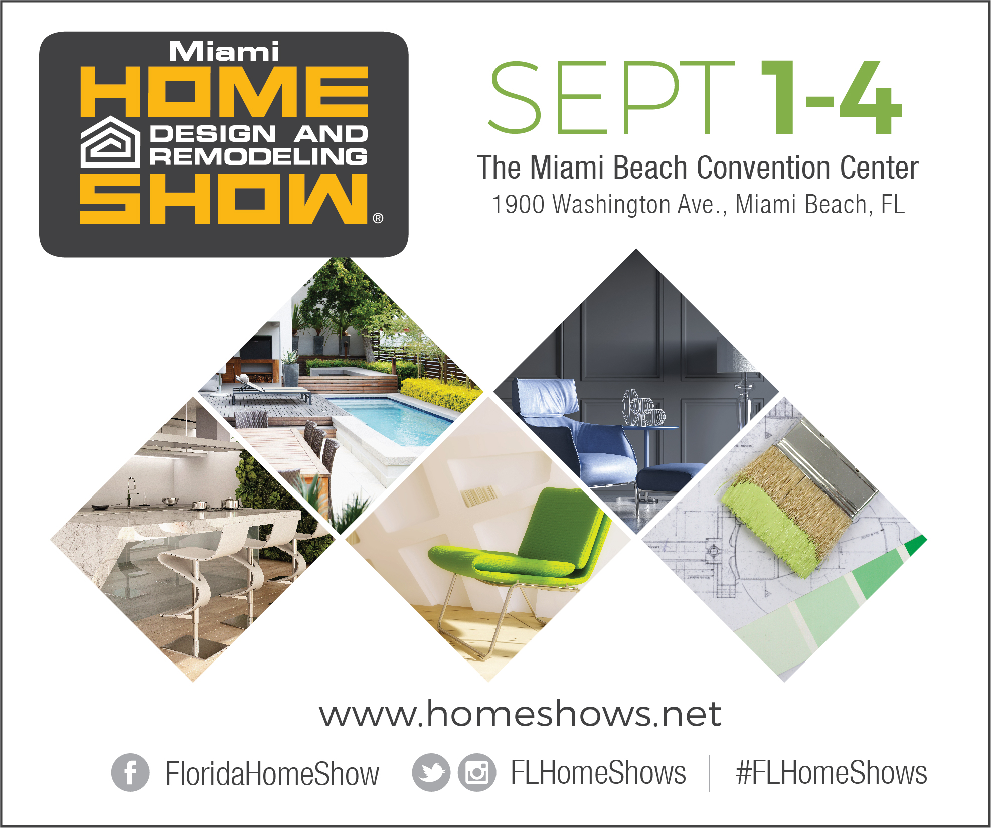 Miami Home Design And Remodeling Show 9/1/17, 9/2/17, 9/3