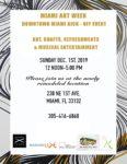 Downtown Miami-Miami Arts Week Kick-Off 12/1/19