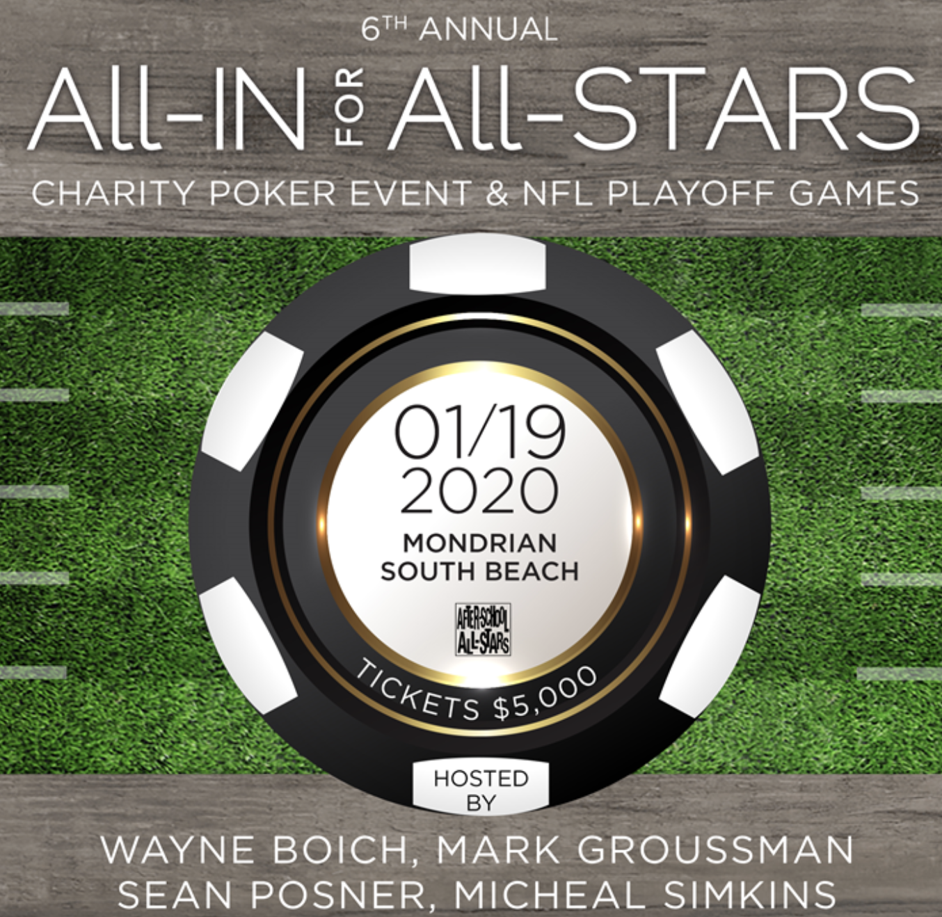 Nfl Playoff Games 2020.All In For All Stars Charity Poker Event Nfl Playoff Games