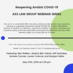 Free Webinar with AXS Law Group: Reopening Amidst COVID-19 5/27/20
