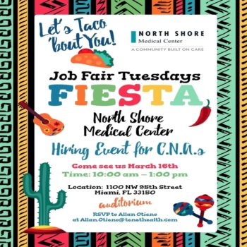 C.N.A Hiring Event Taco Bout You Tuesday 16 March Dollar 3K Sign on Bonus 3/16/21