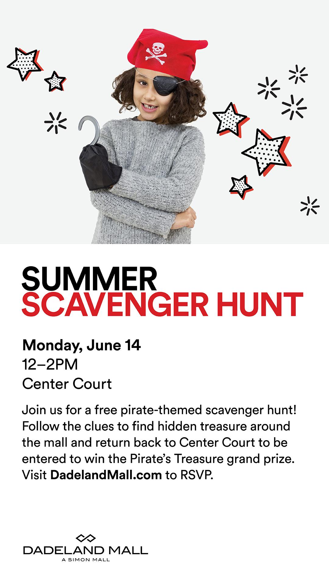Hunt prizes scavenger mall Mall Scavenger