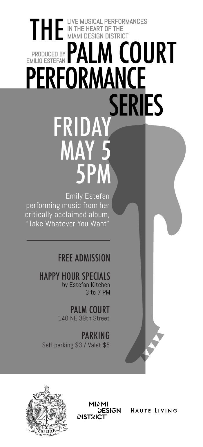 Palm Court Performance Series Featuring Performance By Emily Estefan 5 5 17 The Soul Of Miami